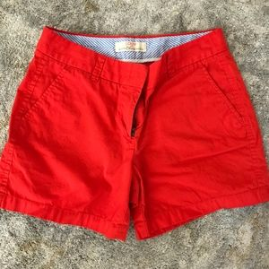Classic Chino Shorts in Red